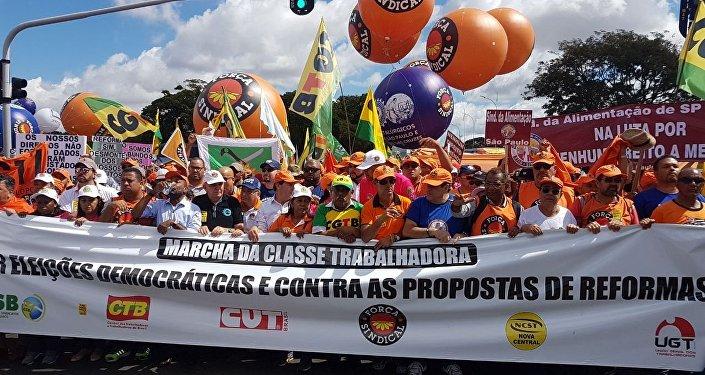 Centrais sindicais apostam no sucesso da greve geral no próximo dia 30