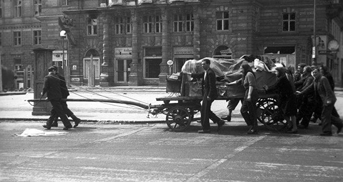 Presos de campos de concentração em Viena