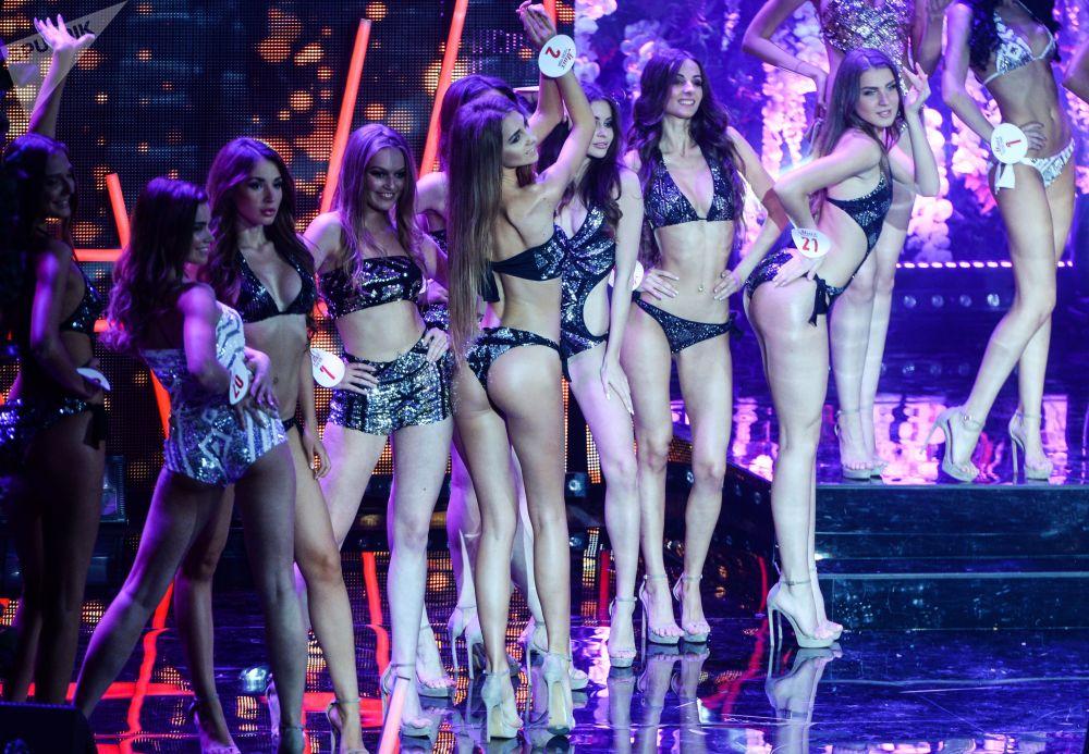 Concurso de beleza russo Miss Russkoe Radio em Moscou