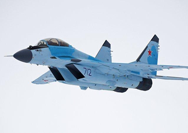 Apresentação do sistema aéreo MiG-35 no distrito de Moscou
