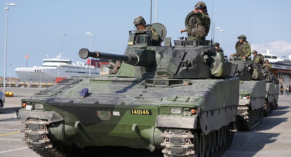 Militares das Forças Armadas da Suécia na ilha de Gotlândia, Suécia