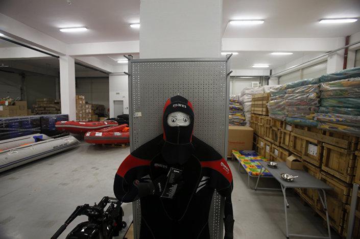 Armazém do Centro Humanitário Russo-Sérvio na cidade de Nis
