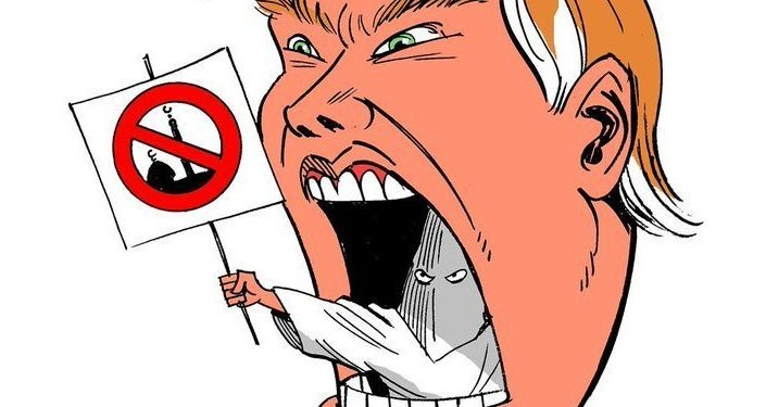 Trump, no traço do chargista Latuff