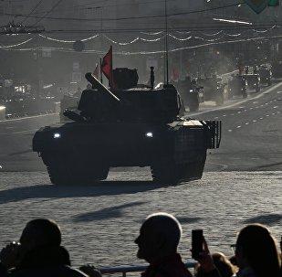 T-14 Armata participa dos ensaios da Parada da Vitória na Praça Vermelha em Moscou