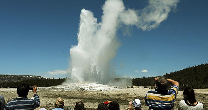 O Parque Nacional de Yellowstone (foto de arquivo)