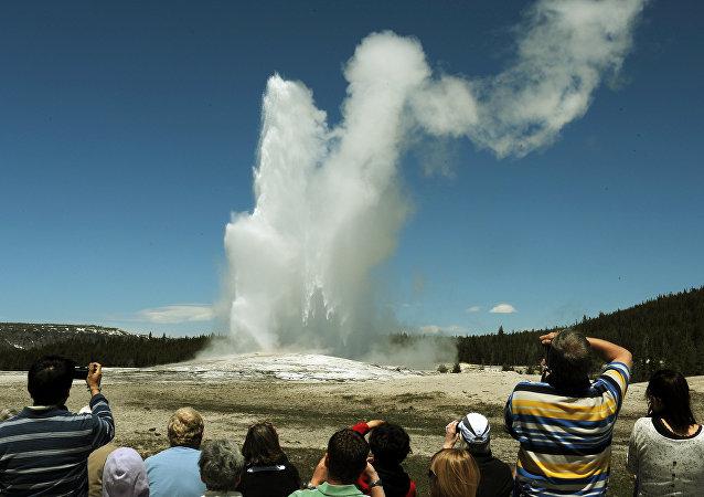O Parque Nacional de Yellowstone