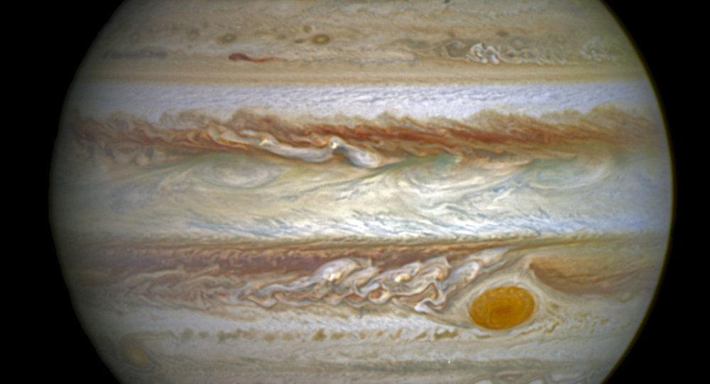 Auroras em Júpiter (imagem de arquivo)