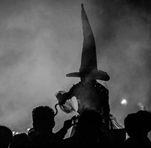 Representação de uma bruxa