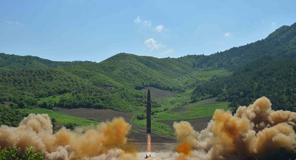 Míssil norte-coreano testado em 4 de julho de 2017