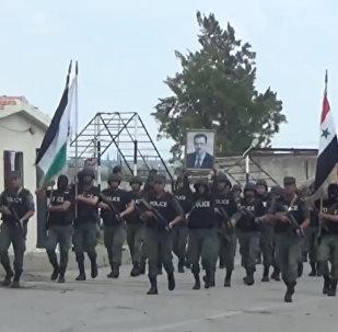 Policiais sírios efetuam treinamento especializado
