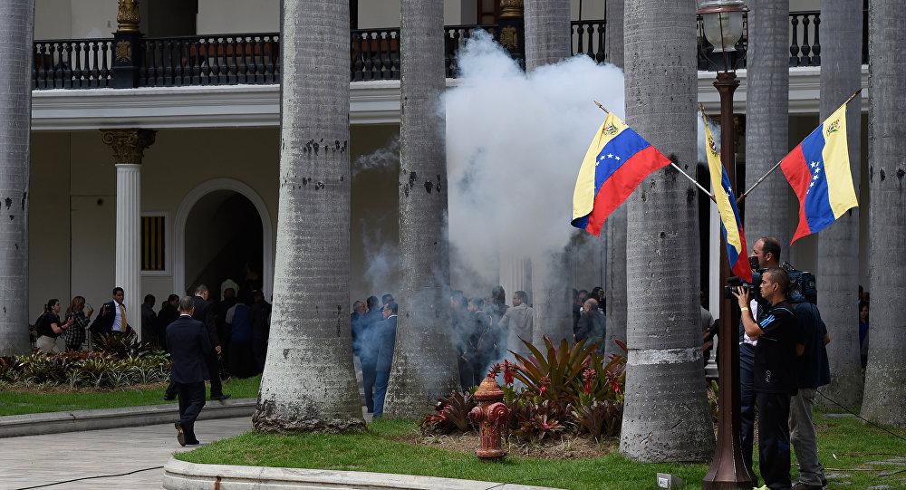 Tumulto na Assembleia Nacional da Venezuela