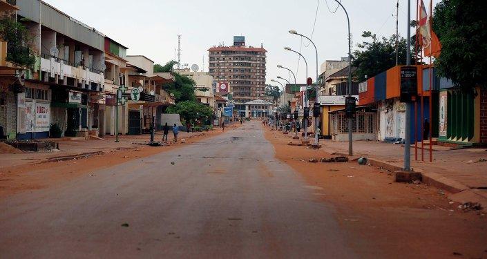 Rua de Bangui, capital da República Centro-Africana