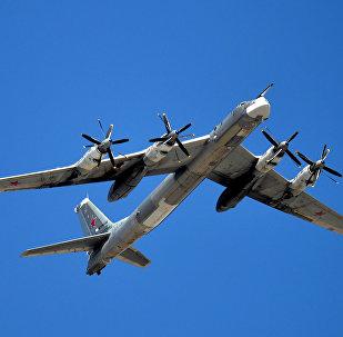 Bombardeiro estratégico russo Tu-95MS