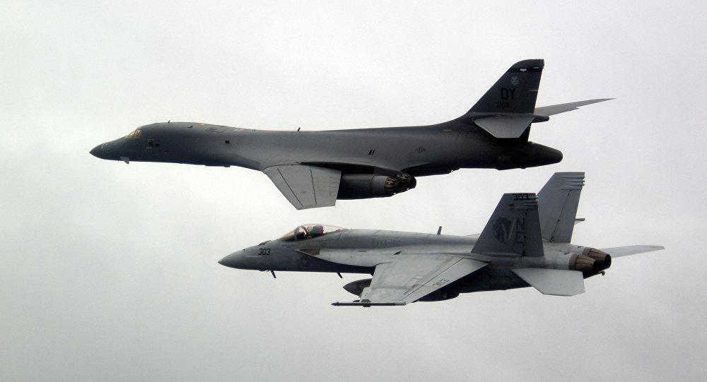 Caças-ombardeiros B-1B da Força Aérea dos EUA