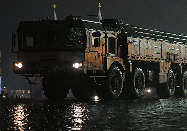 Sistema de mísseis Iskander, foto de arquivo