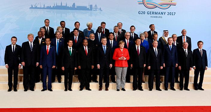 Líderes o G20 em reunião de cúpula do G20