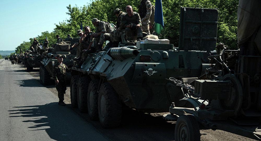 Exército ucraniano em Donbass (foto de arquivo)