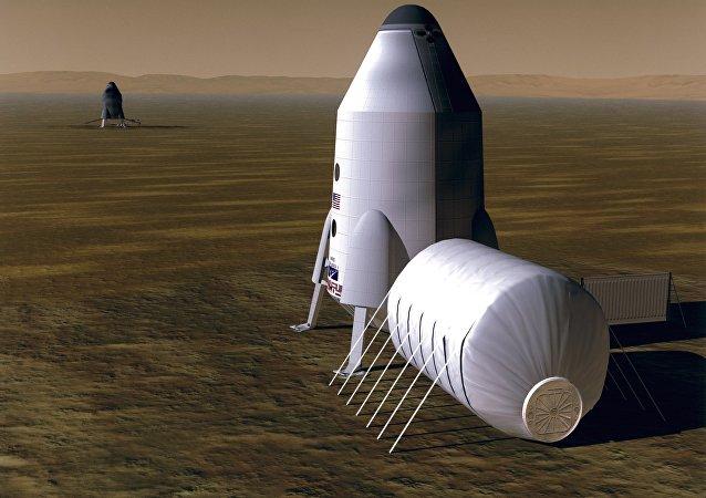 Habitação em Marte, projeto de um artista
