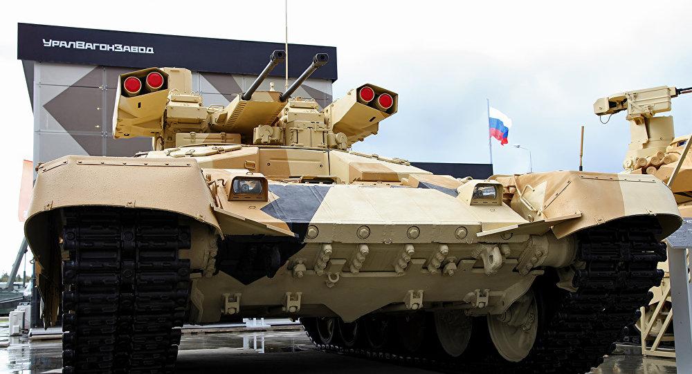 Az orosz tűzoltó jármű BMPT-72 Terminator-2