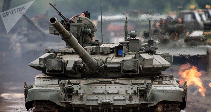 Tanque T-90 russo (foto de arquivo)