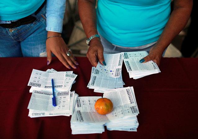 Local de votação em Caracas