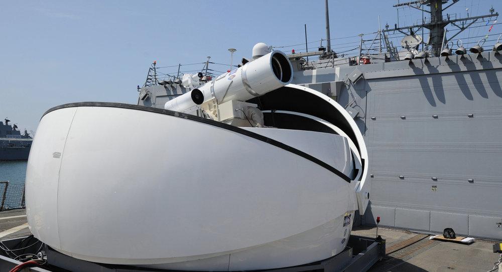 O sistema de armas de raio laser Laser Weapon System (imagen referencial)