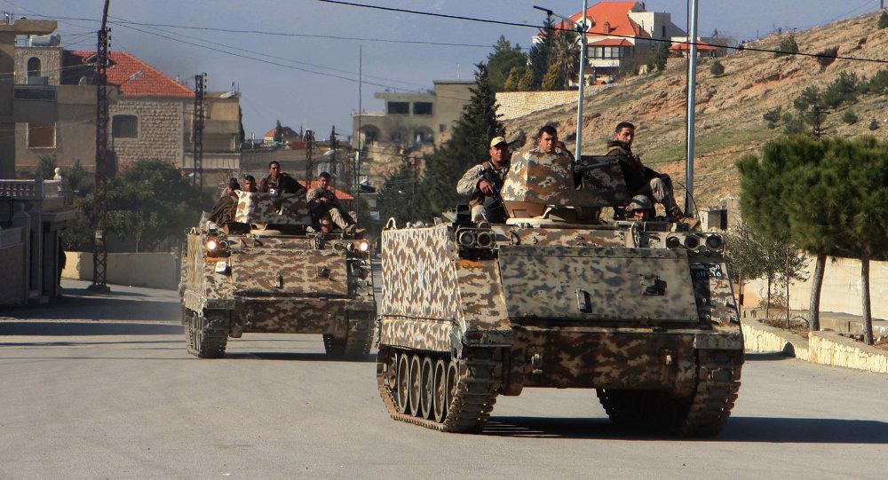 Militares do Exército Libanês no Vale do Bekaa, perto da fronteira com a Síria (foto de arquivo)
