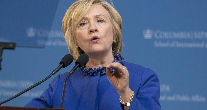 Hillary Clinton, pré-candidata à presidência dos EUA