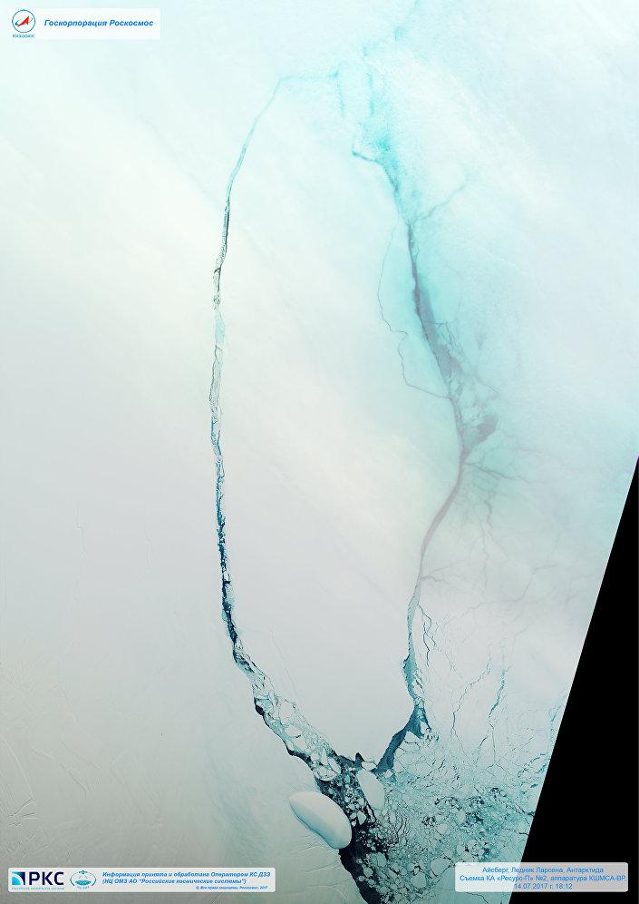 Iceberg desprendido da geleira Larsen