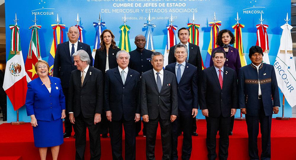 Foto oficial da Cúpula do Mercosul