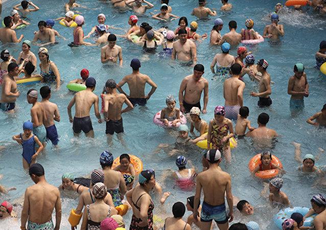Parque aquático Munsu em Pyongyang