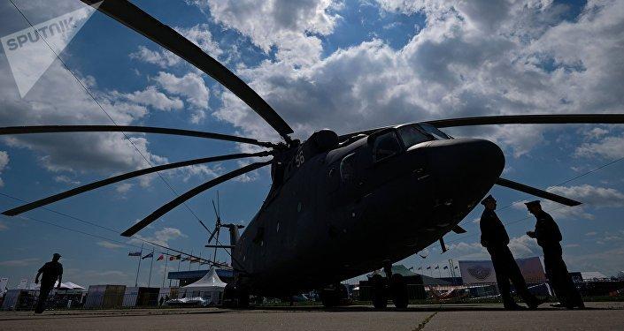 Helicóptero Mi-26 no Salão Aerospacial MAKS 2017