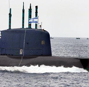 Submarino israelense da classe Dolphin (foto de arquivo)
