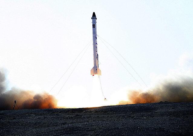 Foguete iraniano que supostamente levou ao espaço um macaco (imagem referencial)