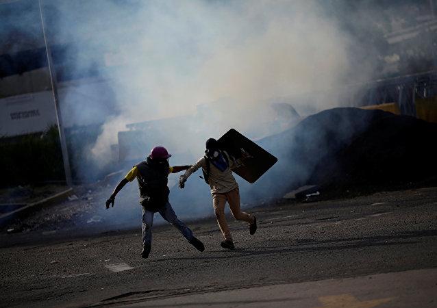 Protestas en Caracas, Venezuela