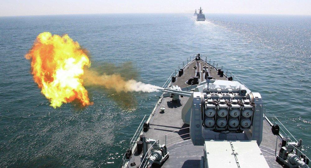 Navio chinês mostra suas capacidades durante manobras (imagem ilustrativa)