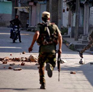 Policiais em Jammu e Caxemira, Índia