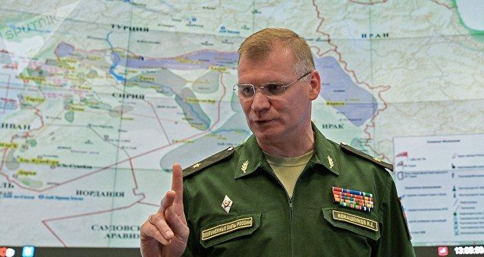 Major-general Igor Konashenkov, porta-voz do Ministério da Defesa da Rússia