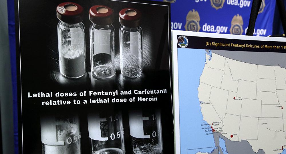Doses mortais de heroína, fentanil e carfentanil