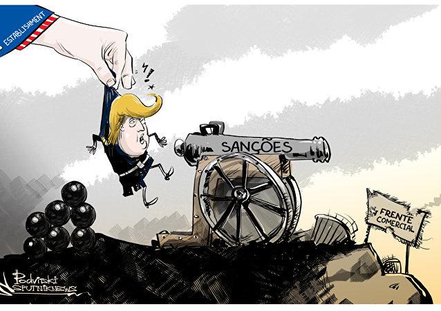 Sem querer, Trump se empenha na guerra das sanções