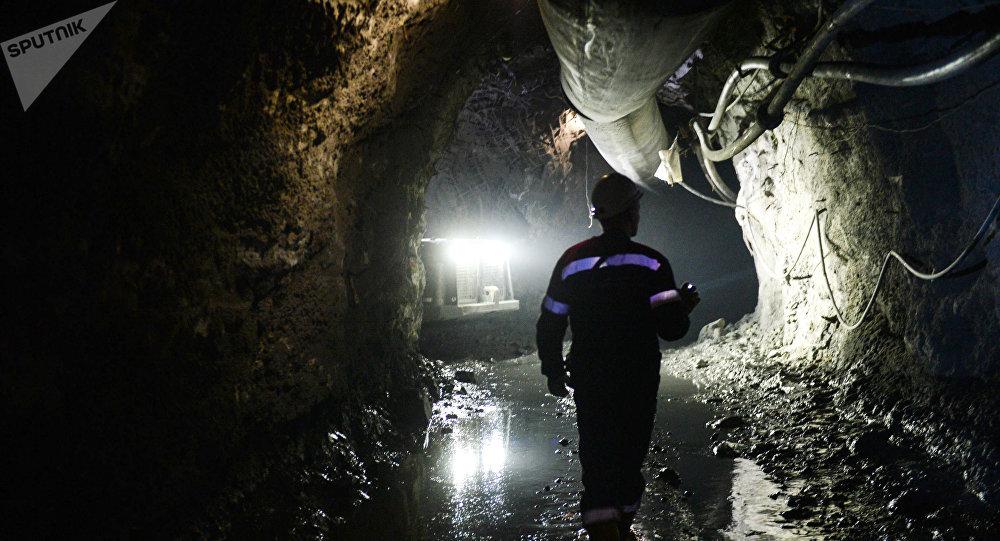 Um mineiro na região russa de Sverdlovsk (foto de arquivo).