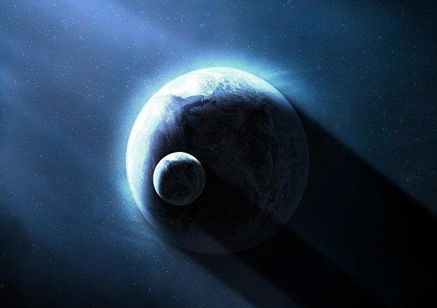 A Terra e a Lua (visão artística)