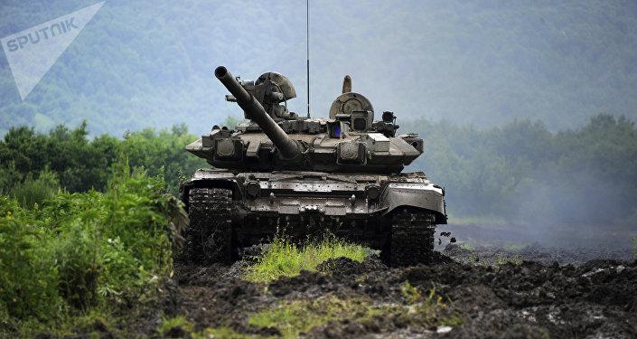 Tanque russo na Ossétia do Sul