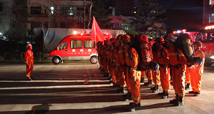 Bombeiros chineses, foto de arquivo