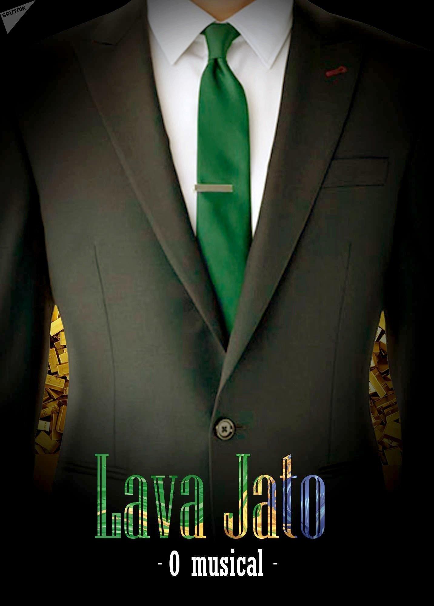 Cartaz da peça 'Lava Jato - O Musical'