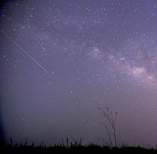 A queda de um meteorito (foto de arquivo)