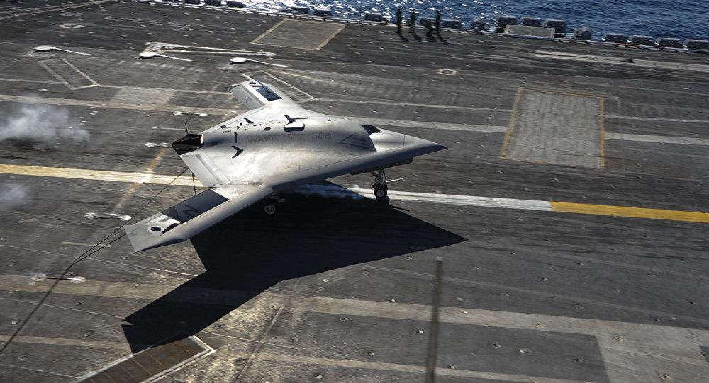 Drone X-47B norte-americano (imagem referencial)