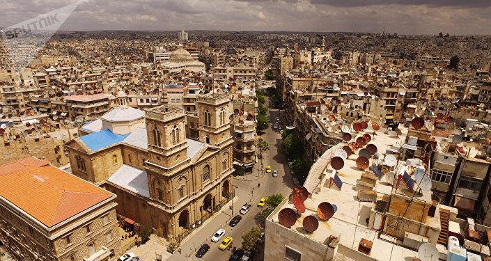 Vista pela cidade de Aleppo (foto de arquivo)