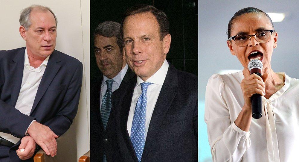 Ciro Gomes, João Doria, Marina Silva e Jair Bolsonaro são alguns dos que postulam ser presidente do Brasil em 2018