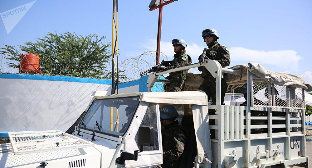 Militares brasileiros da missão MINUSTAH, Haiti.